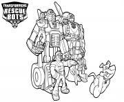 Transformers Rescue Bots Characters dessin à colorier