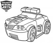 Transformers Rescue Bots The Police Bot Chase dessin à colorier