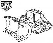 Transformers Rescue Bots Boulder dessin à colorier