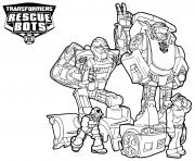 Characters from Transformers Rescue Bots dessin à colorier