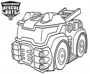 Heatwave from Transformers Rescue Bots The Fire Bot dessin à colorier