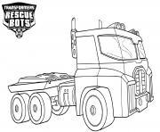 Transformers Rescue Bots Optimus Prime dessin à colorier