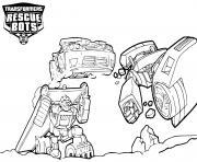 Transformers Rescue Bots Teamwork dessin à colorier