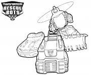 Transformers Rescue Bots Vehicles dessin à colorier
