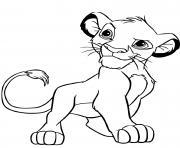 simba roi lion dessin à colorier