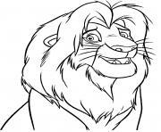 simba grandit vite la Garde du Roi Lion dessin à colorier