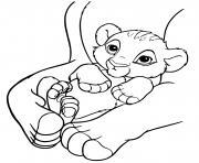 premiere apparition simba dans le roi lion 1994 dessin à colorier