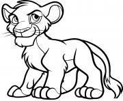 simba fils du roi mufasa dessin à colorier