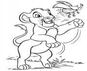simba fils de la reine sarabi dessin à colorier