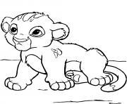 bebe simba encore tout jeune dessin à colorier