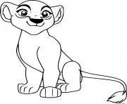 la lionne et reine sarabi dessin à colorier
