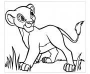 simba dans le roi lion 3 hakuna matata dessin à colorier