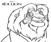 le futur roi lion simba le souverain legitime dessin à colorier