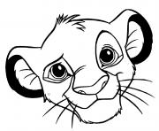 prince et futur roi simba dessin à colorier