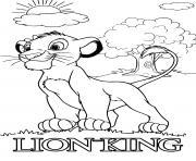 simba veut devenir le roi sage et avise dessin à colorier