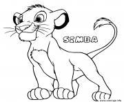 jeune lionceau simba dessin à colorier