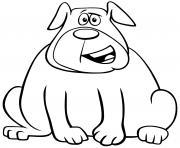 un gros chien rempli damour et de tendresse dessin à colorier