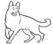 Coloriage German Shepherd dog