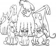 une bande de chiens adorables maternelle dessin à colorier