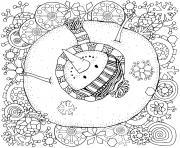 bonhomme de neige pour adulte antistress dessin à colorier