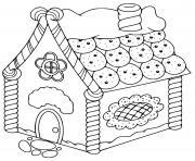 maison pain depices patisserie dessin à colorier