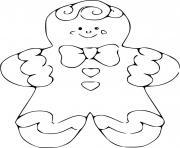pain epice maison monsieur biscuit dessin à colorier