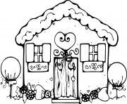 belle maison pain epice pour noel dessin à colorier