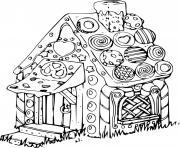 maison pain epice episserie dessin à colorier