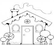 maison enfant pain depice dessin à colorier