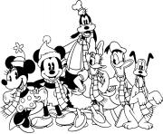 Classic Mickey and friends dessin à colorier