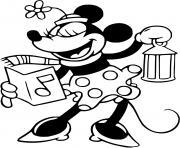 Classic Minnie singing carol dessin à colorier