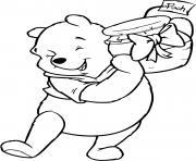 Winnie the Pooh present dessin à colorier