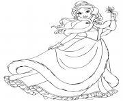 Belle mistletoe dessin à colorier