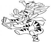 Tigger Roo singing carols dessin à colorier