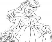 Aurora ready for Christmas dessin à colorier