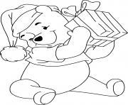 Winnie present dessin à colorier