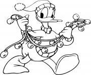 Donald Ducks Christmas lights dessin à colorier