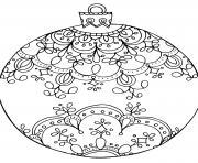 Coloriage cadeau flocons de neige et decorations de noel mandala dessin