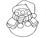 bonhomme de neige pour maternelle dessin à colorier