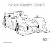 Aston Martin Amr1 2011 dessin à colorier