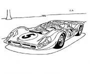 automobile ferrari pour la competition dessin à colorier