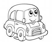 voiture facile maternelle dessin à colorier