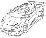automobile de course au grand prix de monaco dessin à colorier