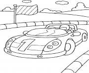 petite voiture de course dessin à colorier