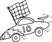 auto de course Formula 1 dessin à colorier