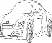 voiture de sport audi dessin à colorier