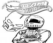 Coloriage Team Hot Wheels Driver