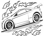 hot wheels voiture dessin à colorier