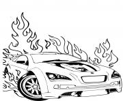 Coloriage Hot Wheels Ford voiture