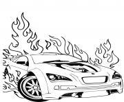 Hot Wheels Ford voiture dessin à colorier